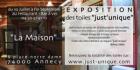 """Exposition des Toiles """"Just'unique"""" Restaurant la Maison, Annecy 2013"""